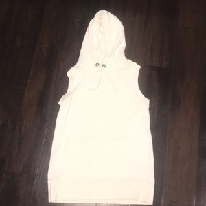 Free people sleeveless hoodie